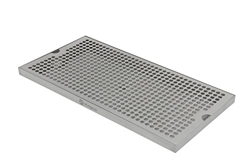 Kegco SESM-189D 18'' x 9'' Surface Mount Drip Tray with Drain by Kegco