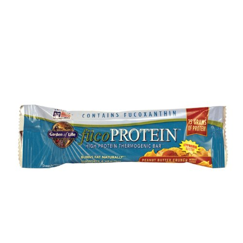 Garden of Life Natural Whole Food High Protein Bars - fucoProtein Peanut Butter Crunch, 55g bars (12 per carton)