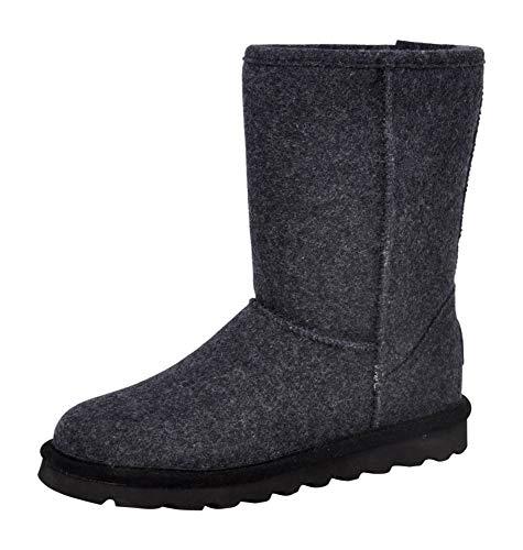 Bearpaw Damen Elle Short Schlupfstiefel, Grey Wool