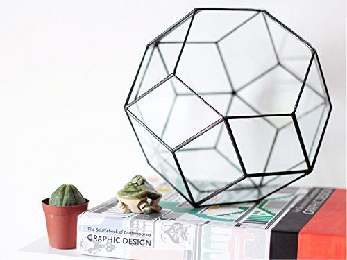 Large Glass Terrarium Container, Geometric Home Decor, Modern Indoor Planter, Moss Terrarium, Succulent Planter, Stained Glass Terrarium by Waen by Waen