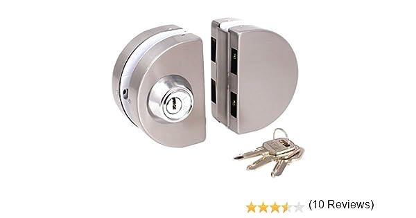 Cerradura de puerta de cristal de desplazamiento - TOOGOO(R) cerradura de puerta de batientes de empuje de puerta de entrada de cristal de 10-12mm con llaves: Amazon.es: Bricolaje y herramientas