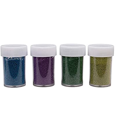 Maddie Rae's Slime Metallic Microbeads, Set of 12, (20g ea) Great for Slime, Caviar Nails, and Crafts: Arts, Crafts & Sewing