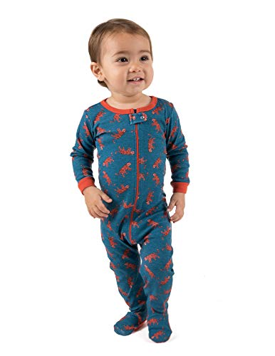 Leveret Kids Pajamas Baby Boys Girls Footed Pajamas Sleeper 100% Cotton (Tiger, Size 2 Toddler) (Tiger Sleeper)