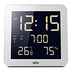 Braun BNC014WH-RC Temperature/Humidity Quartz Wall Clock