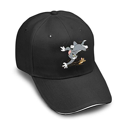 TicTicTok Tom Cat Jerry Mouse Men Women Thin and Adjustable Hats Black
