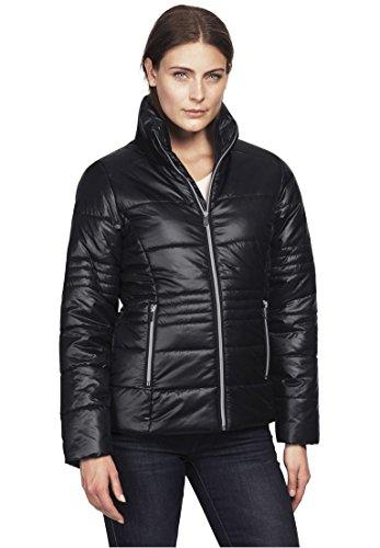 Ellos Women's Plus Size Short Puffer Zip Front Jacket - Puffer Front Zip