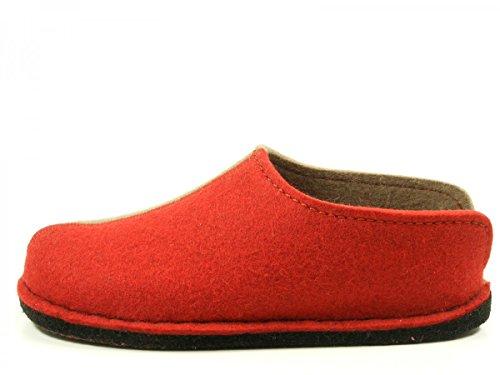 Haflinger Flai-Smily-Duo - Pantuflas de lana unisex Rot