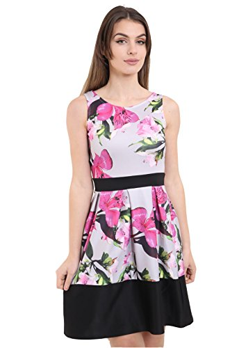 7 Fashion Road Damen Skater Kleid rosa pink floral