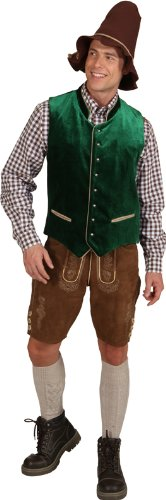 Trachten Weste grün zum Herren Kostüm an Karneval Fasching Gr.56/58