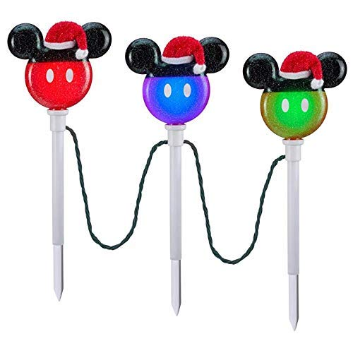 Gemmy Christmas Pathway Markers Mickey