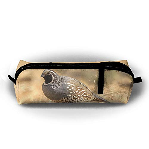 Cute Quail Pens Pouch Cosmetic Office Zipper for sale  Delivered anywhere in USA