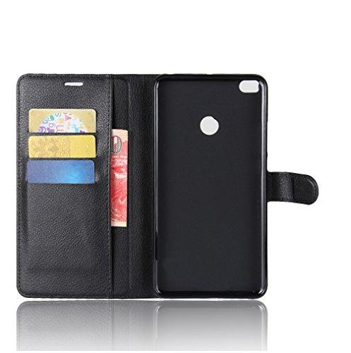Funda Xiaomi Mi Max 2,Manyip Caja del teléfono del cuero,Protector de Pantalla de Slim Case Estilo Billetera con Ranuras para Tarjetas, Soporte Plegable, Cierre Magnético C