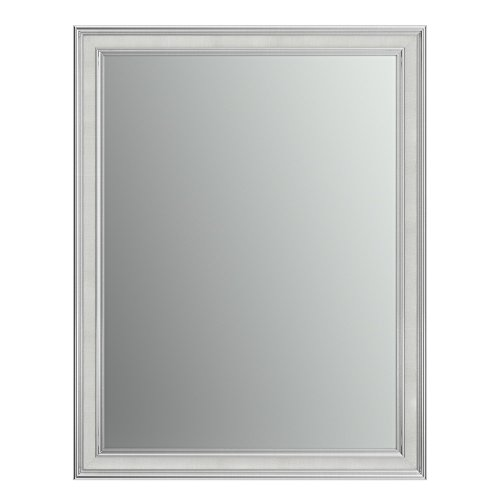 Chrome Classic Wall Mount - Delta Wall Mount 28 in. x 36 in. Medium (M1) Rectangular Framed Flush Mounting Bathroom Mirror in Classic Chrome with Standard Glass