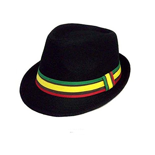 Trilby Hats for Adults Multi Color Band - Black Color (FedHat62M Z) ()