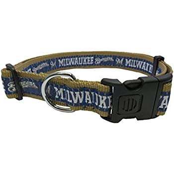 0ce78650b Amazon.com   MLB MILWAUKEE BREWERS Dog Collar