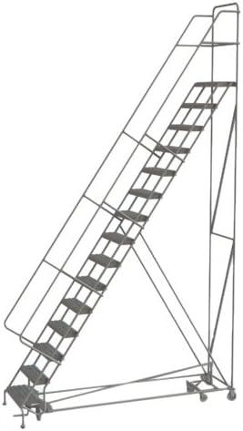 Tri-Arc escalera de acero con ángulo de seguridad multidireccional industrial y de almacén con remache de agarre, 15-Step, 1: Amazon.es: Bricolaje y herramientas