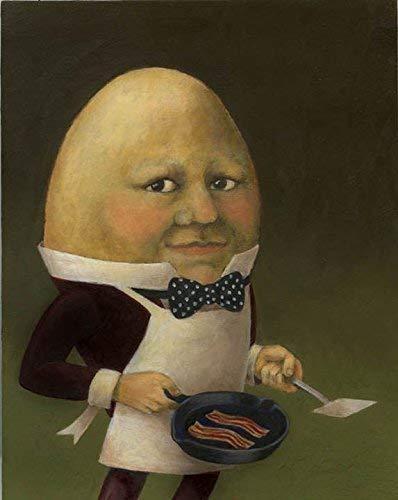 Uncle Omelette - Egg Man Portrait - Egg Headed Man - Humpty Dumpty ()