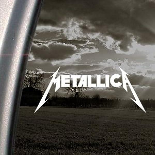 Ritrama - Adhesivo para ventana, texto Metallica, para coche/camión etc.: Amazon.es: Coche y moto