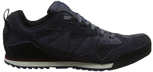 Merrell Burnt Rock Tura Denim Low, Sneaker Uomo Blu (Navy/Chocolate Truffle)