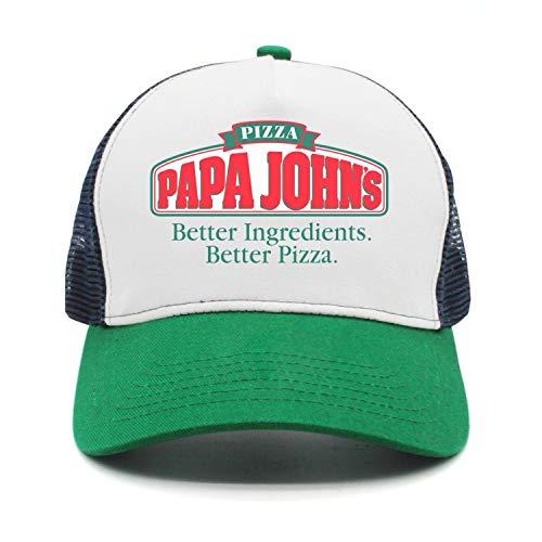 YHNBHI papa Loves Pizza Unisex Rock Punk Adjustable Cricket Cap Best Trucker Hat