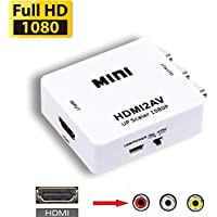 AINIMO 1080P HDMI to AV CVBs Composite Converter, HD Video Audio HDMI2AV Adapter, Support PAL/NTSC Hdmi to RCA Converter for PC DVD XBOX PS3 PS4 STB VHS VCR CAMERA