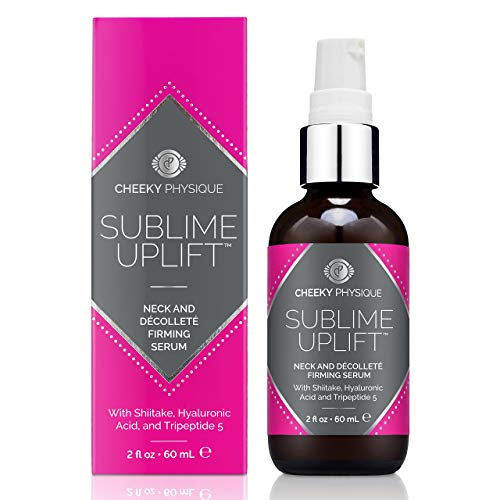 Sublime Uplift Neck and Décolleté Firming Serum - Anti-Aging Tightening & Brightening Treatment Cream for Crepey Skin, Neck Lines, and Chest Wrinkles - 2 oz.