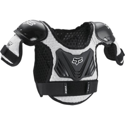 Fox Racing Peewee Titan Youth Roost Deflector Black/Silver-M/L by Fox Racing