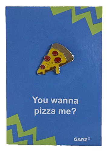 (Pin It! Lapel Pin Hat Pin Tie Tack with Colorful Enamel and Funny Pun- Pizza)