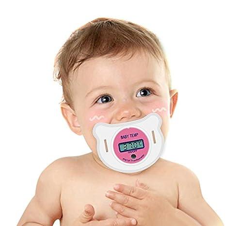 ... Termómetro con Cubierta de Almacenamiento Protector Silicona Tetina Diseño Especial para Recién Nacido Bebé Menor de 4 Años rosa rosa: Amazon.es: Bebé