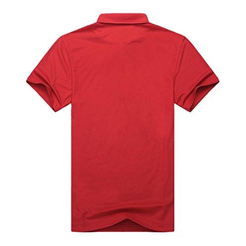 EAGEGOFメンズ ポロシャツ 開襟シャツ ゴルフポロシャツ 半袖 UVカット カジュアル 快適 吸汗速乾 ポリエステル 夏 多色選べる