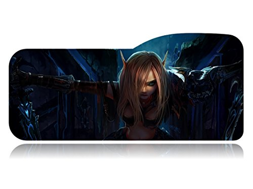 Guardian Side Box Boards (World of Warcraft Extended Size Custom Professional Gaming Mouse Pad - Anti Slip Rubber Base - Stitched Edges - Large Desk Mat - 28.74