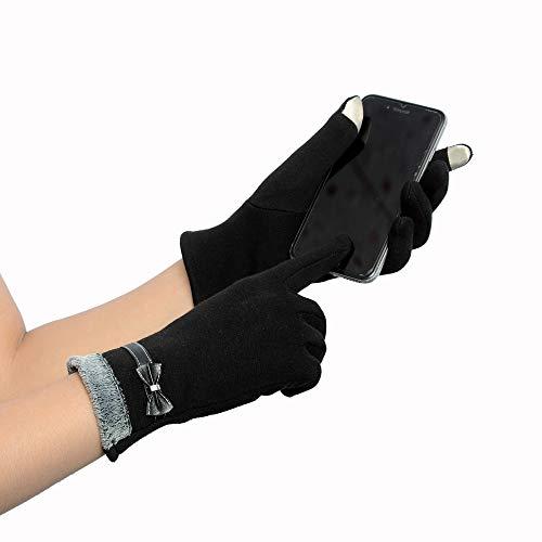 Lannmart New Brand Women Winter Female Gloves Fashion Smartphone Screen Wrist Gloves for Women Gants Femme Luvas De ()