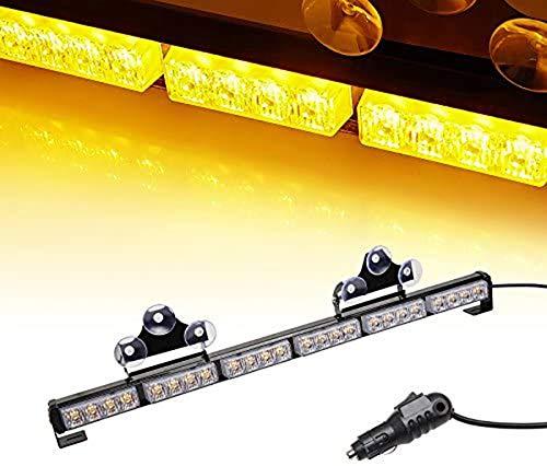 "V-SEK 24 LED 27"" Hazard Emergency Warning Tow Traffic Advisor Flash Strobe Directional Light Bar (Yellow/Amber)"