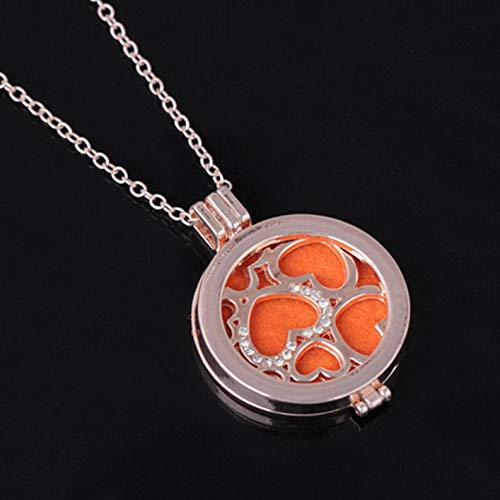 Mikash Hot Memory Locket Fragrance Essential Oil Aromatherapy Diffuser Pendant Necklace | Model NCKLCS - 40275 -