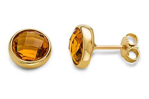 Vorschaubild Miore Damen-Ohrstecker Ohrringe 9 Karat Citrine Quartz