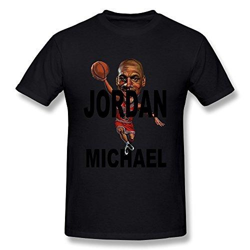 S-Kaso Men's Michael Jordan T-shirt XX-Large Black