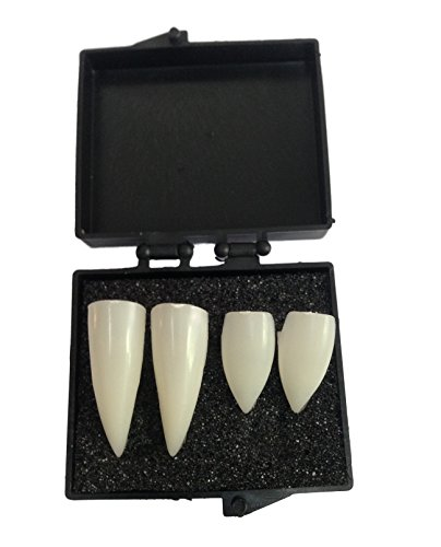 Vampire Dentures Fangs Teeths Costume Accessory 3 Styles(without Glue) (4pcs) (Vampire Fangs Costume)