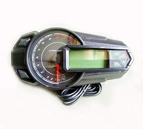 Samdo 199 Km/h Universal 6 Gear LCD Digital Odometer Motorcycle Speedometer Tachometer Gauge 13000 RPM