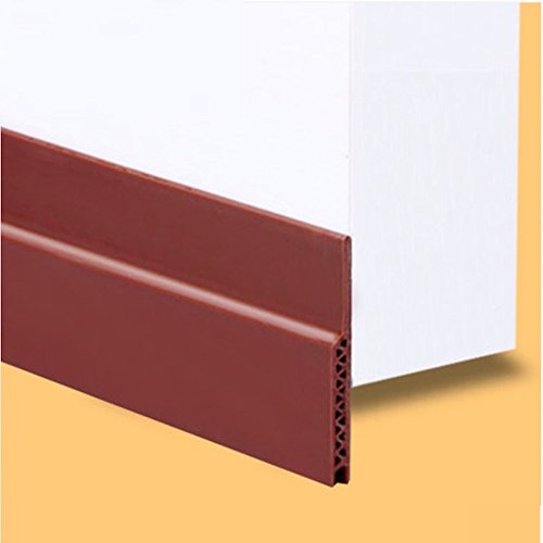 3BLUESKY Under Door Draft Stopper Bottom Threshold Acoustic Seals Adhesive Silicone 45 x 1200mm...