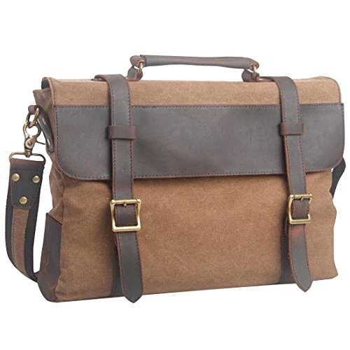 Jeansian Casual Retro Bolsa De Viaje De Lona De Los Unisex Casual Retro Canvas Bag BG062 Coffee