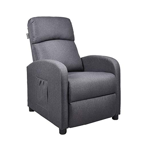 Gaming Massage Recliner Chair – Ergonomic Heated Rocking Sofa Gliders Lounge Chairs Heated w/Control Linen Surface Padded Seat Home Theater Seating for Living Room