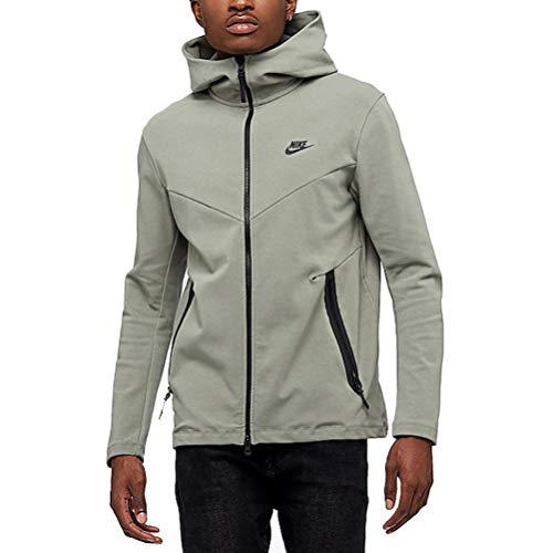 Nike Mens Tech Fleece Pack Full Zip Training Hoodie Dark Stucco/Black AA3784-004 Size -