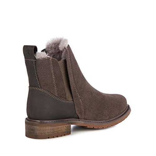 EMU Australia Pioneer Womens Deluxe Wool Waterproof Boots in Charcoal