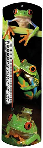 Heritage America Indoor Outdoor Thermometer Tree Frog Themed Non-Mercury Thermometer 15 Inches