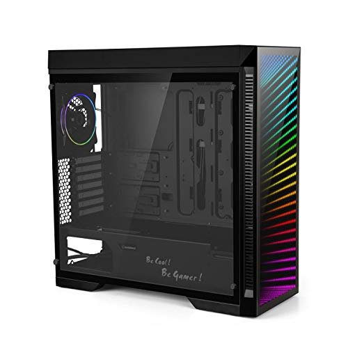 Gaming Case Full Tower, with Tempered Glass Side Panel & ARGB LED Mirror, Supports 7x120mm Fans, GAMEMAX Abyss-TR