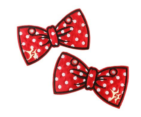 (Red with White Polka Dots Bow Shoe Shwings)