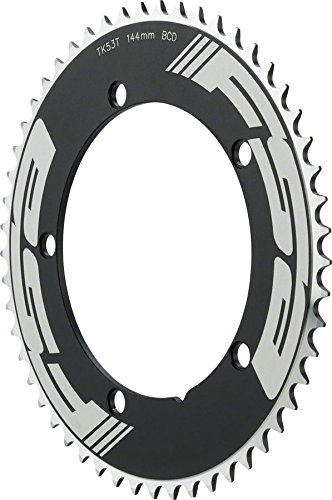 FSA Pro Track Bicycle Chainring (Black - 144x53T (53t Ring)