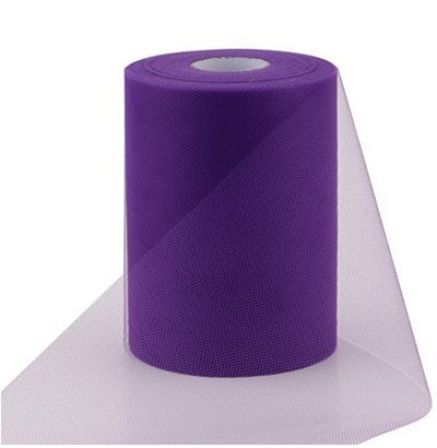 ASIBT 6 Inch x 100 Yards Tulle Roll Spool Fabric Table Runner Chair Sash Bow Tutu Skirt Sewing Crafting Fabric Wedding Party Gift Ribbon (Purple)