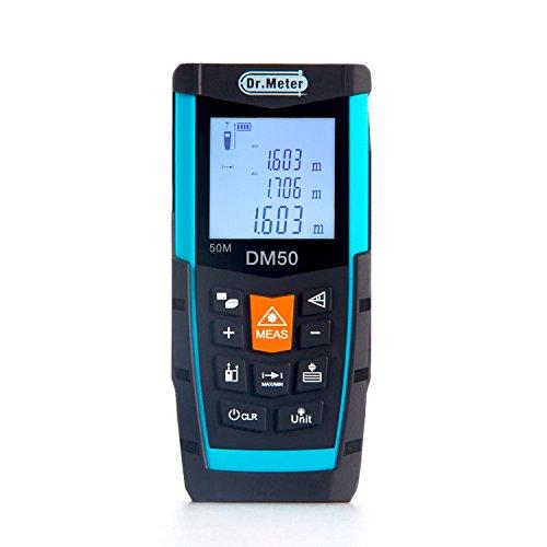 [Digital Laser Distance Meter]Dr.meter Handy Laser Measure 164ft Measuring Range with Large Backlit Display...