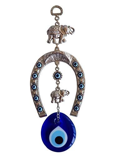 Bead Global Turkish Blue Evil Eye Horse Shoe Elephant Home Protection Charm - Wall Hanging Decor